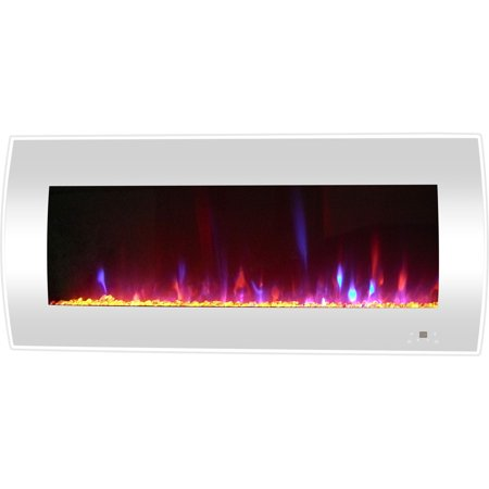 Cambridge 42 In Curved Wall Mount Electric Fireplace Heater In
