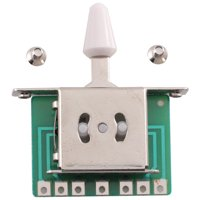 Seismic Audio  5 Way Toggle Switch Pickup Selector for Tele Strat Guitars Silver - SAGA32