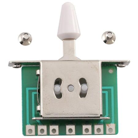 Seismic Audio  5 Way Toggle Switch Pickup Selector for Tele Strat Guitars Silver - SAGA32