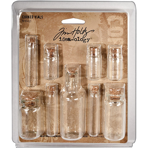 Advantus Tim Holtz Idea-Ology Corked Glass Vials