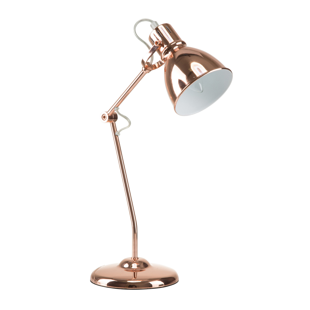 "Euro Style Collection Lyon 18"" Industrial Copper Table Lamp"