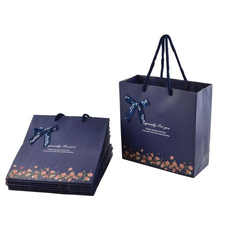 Unique Bargains Paper Flower Print Birthday Wedding Gift Bags Holder