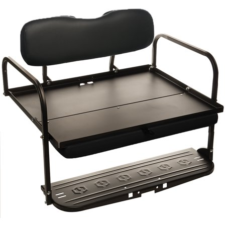 Black Yamaha Golf Cart G2 and G9 'Classic' Rear Flip Seat