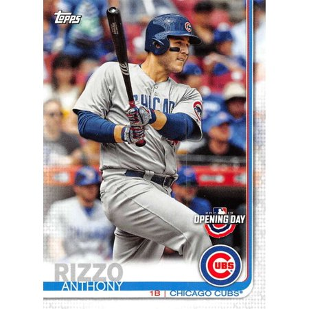 2019 Topps Opening Day 86 Anthony Rizzo Chicago Cubs Baseball Card