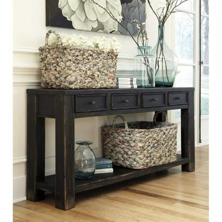 Phenomenal Ashley Furniture Gavelston Console Table In Black Walmart Canada Machost Co Dining Chair Design Ideas Machostcouk