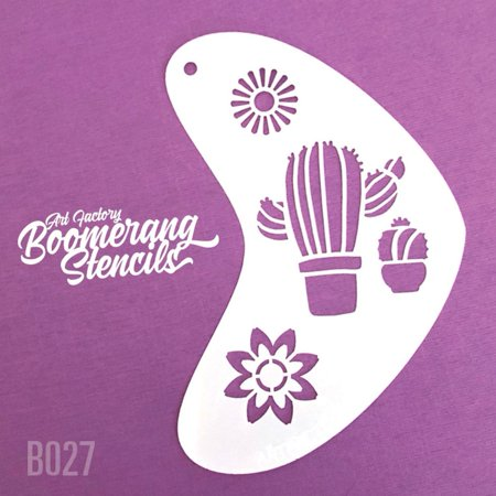 Art Factory Boomerang Stencil - Cactus, Reusable Face Painting Stencil, Great for Fairs, Carnivals, Party and Halloween](Halloween Witch Face Painting Ideas)