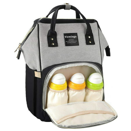 6b0e6ac450 Backpack Diaper Bag, Vemingo All-in-One Waterproof Maternity Diaper Nappy  Bag Large Capacity Travel Backpack for Baby Care - Walmart.com