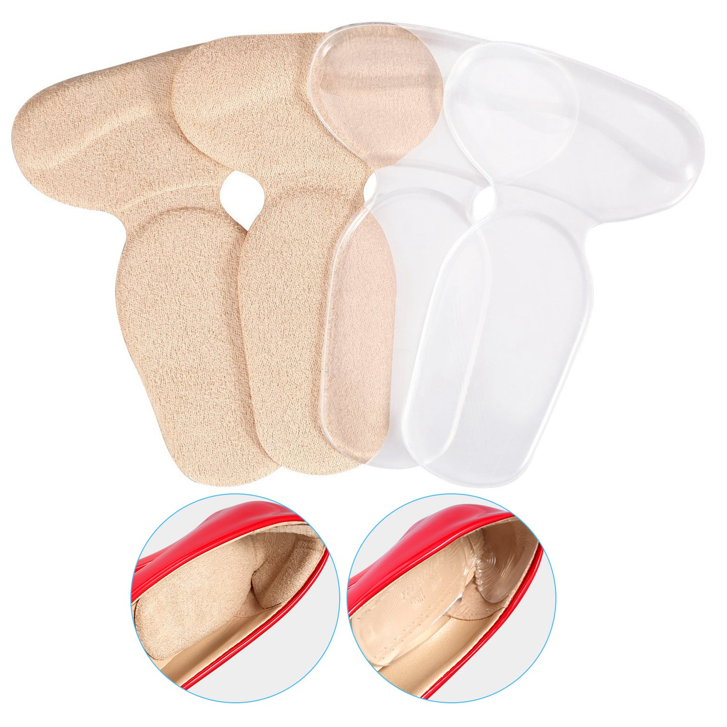 Tbest 2-20 Pairs Silicone Shoe Back Heel Inserts Insoles Gel Pad Cushion Grip Liner US