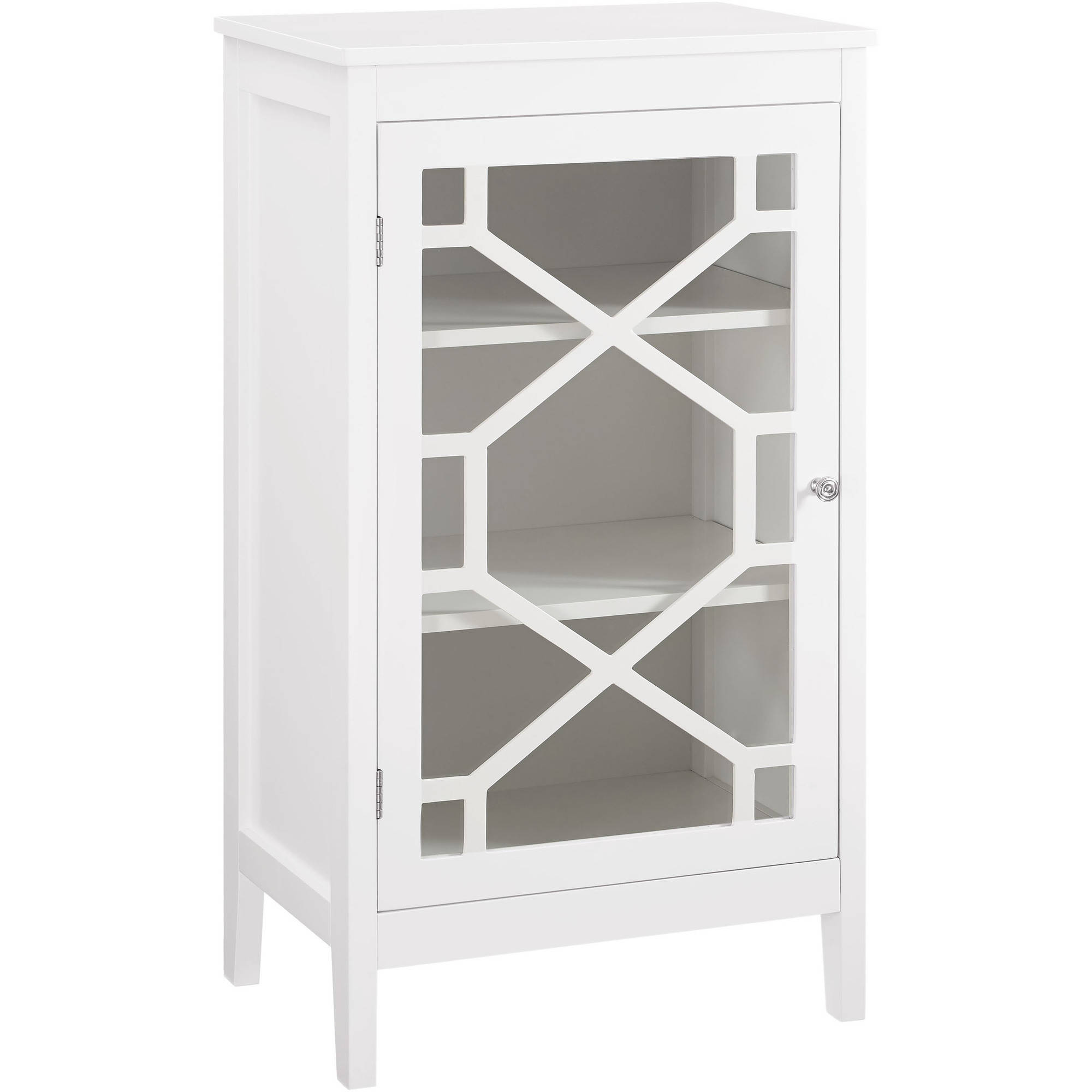Linon Home Fetti Small Accent Cabinet, White