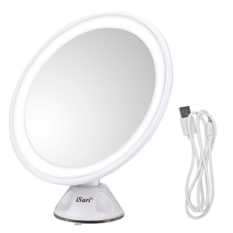 Lighted Makeup Mirror Isuri Rechargeable Led 7x Magnifying Lighted