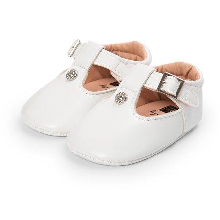 Mosunx® Toddler Newborn Baby Girl Shoes Leather Soft Sole Crib Toddler Anti-Slip Cute Sh