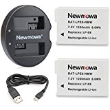Newmowa LP-E8 Battery (2 pack) and Dual USB Charger for Canon LP-E8 and Canon EOS Rebel T2i, EOS Rebel T3i, EO