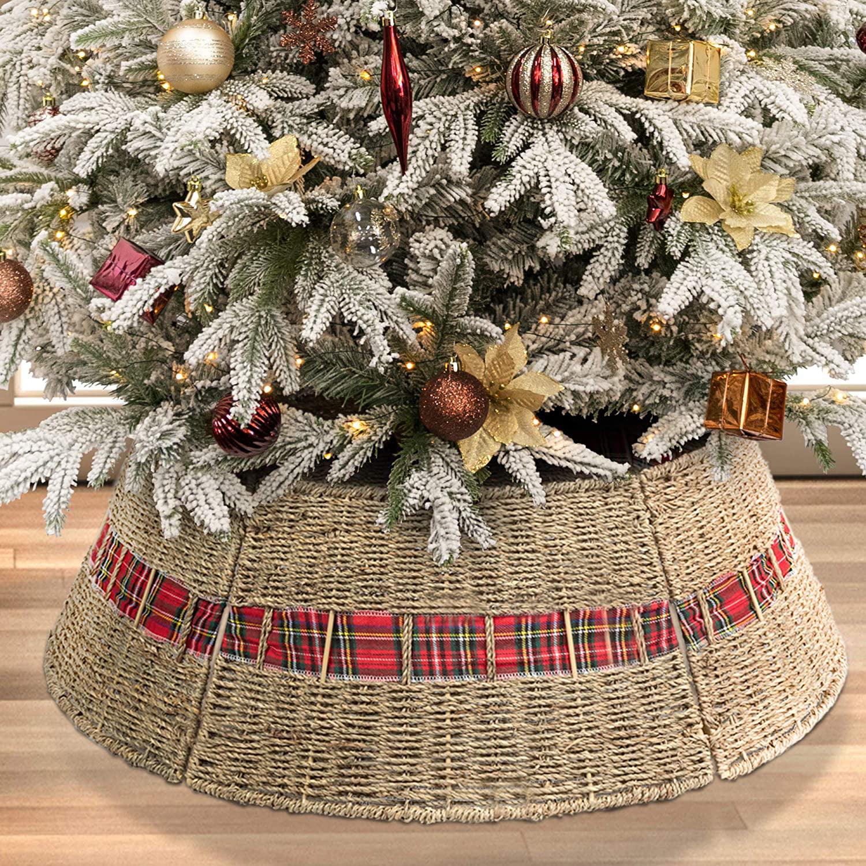 Christmas Tree Collar Farmhouse Christmas Tree Decorations Alternative Tree Skirt Christmas Tree Ring Walmart Com Walmart Com