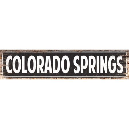 COLORADO SPRINGS Street Plate Sign Bar Store Shop Cafe Home Kitchen 4180076