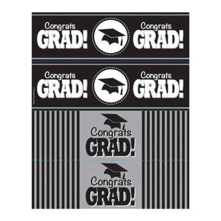 Graduation Bottle Labels (8ct) - Graduation Water Bottle Labels
