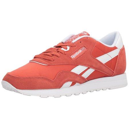 b389617ba69 Reebok BS9377  Women s CL Nylon Neutrals Clay Tint White Sneaker (5.5 B(M)  US