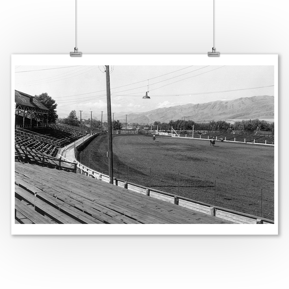 Lewiston, Idaho - View of the Rodeo Grounds (16x24 Giclee Gallery Print, Wall Decor Travel Poster)