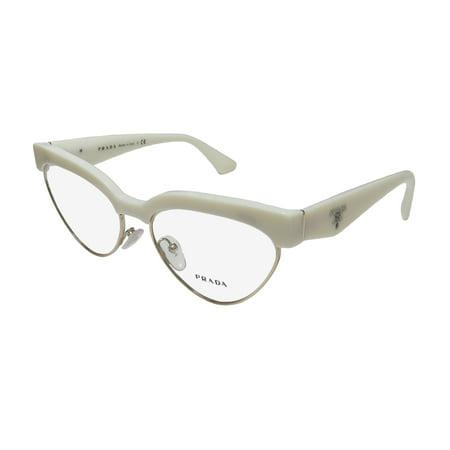 45b7e155933 New Prada Vpr05q Womens Ladies Cat Eye Full-Rim Ivory   Gold Frame Demo  Lenses 54-16-140 Spring Hinges Eyeglasses Eye Glasses - Walmart.com