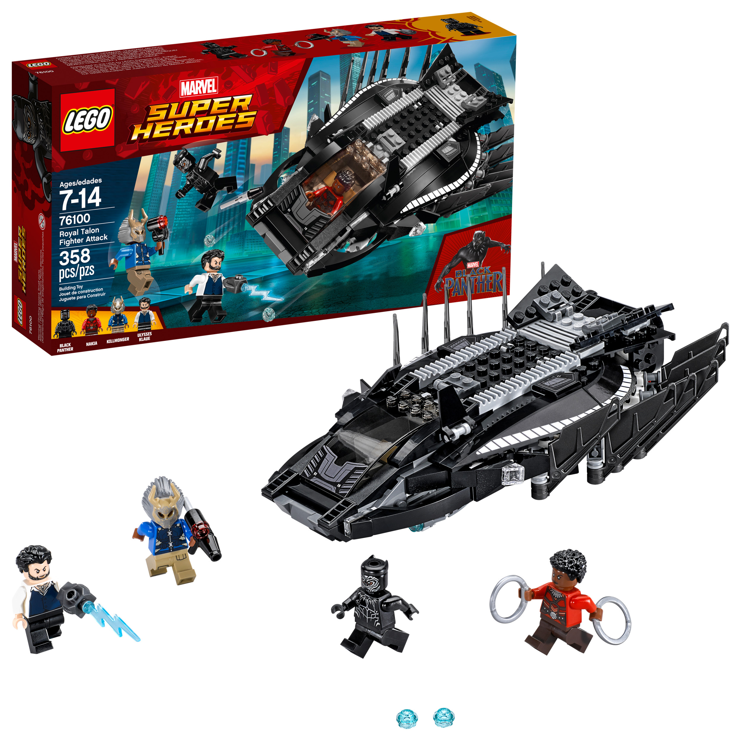 LEGO Super Heroes Black Panther Royal Talon Fighter Attack 76100