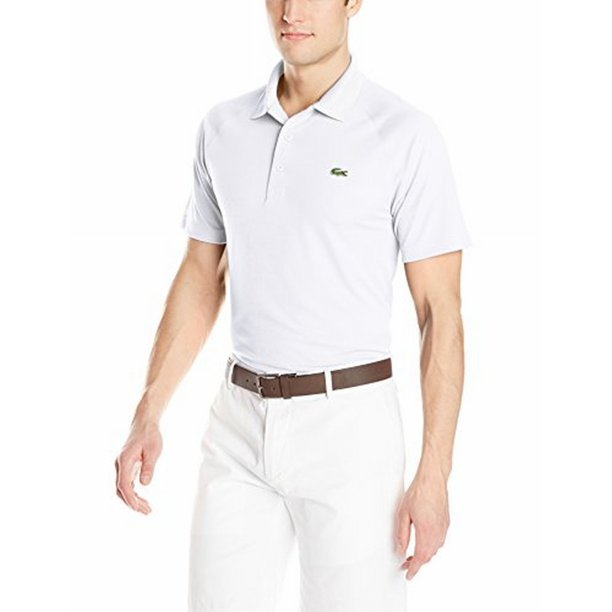 Lacoste NEW White Mens Size 4XL/9 Pull-Over Side-SAlit Polo Shirt