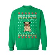 Awkward Styles Merry Pug-Mas Sweatshirt Funny Christmas Pug Sweater for Men and Women Pugmas Ugly Christmas Sweater Cute Pug Gifts for Christmas Xmas Party Xmas Gifts for Dog Lovers Merry Pugmas