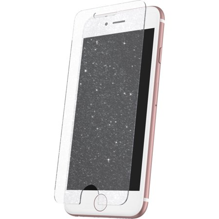 promo code e99a6 ed7c0 Onn Glitter Glass Screen Protector For iPhone 7 Plus