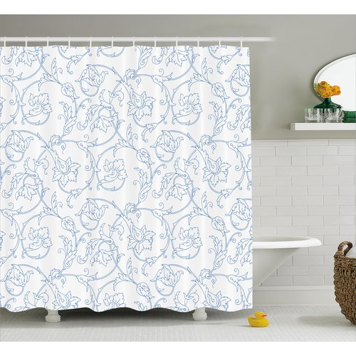 Ophelia & Co. Sealy Bohemian Vintage Orchids Shower Curtain by