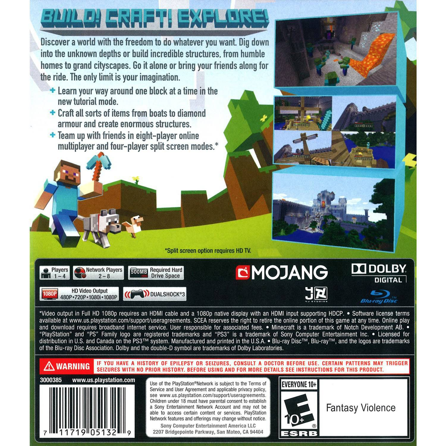 Minecraft Sony PlayStation Walmartcom - Minecraft ps3 spiele