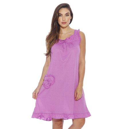 5b59880951ed Dreamcrest Polka Dot Nightgown   Women Sleepwear   Womans Pajamas ...