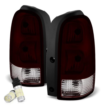 Uplander Relay (VIPMOTOZ Smoke Red Lens OE-Style Tail Light Lamp Assembly For 2005-2009 Chevy Uplander Pontiac Montana Buick Terraza Saturn Relay, Driver & Passenger Side)