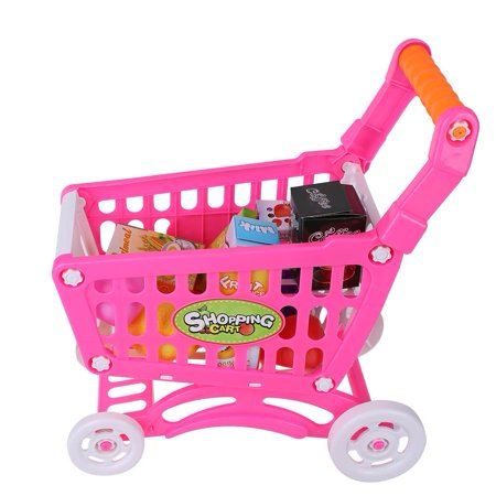 OTVIAP Children Shopping Cart, Shopping Cart Toy,Kids Shopping Cart Toy Children Pretend Role Play Food Fruits Playing Game Description:This lovely children's shopping cart is eco-friendly, safe and durable.Its rich accessories will satisfy baby's curiosity and imagination and develop their knowledge of different fruits, vegetables and snacks, etc.It brings great joy and different experience to the baby.Features:Adopt high quality ABS material, eco-friendly, non-toxic, safe to baby.Has fine workmanship, it's smooth and mellow, it won't hurt hands while using it.The handle is in moderate size and has comfortable hand feel, suits baby's hands perfectly.This shopping cart helps to develop baby's recognition of different fruits and vegetables.It can also cultivate baby's imagination and creativity, promote brain development.Specification:Condition: 100% Brand NewItem Type: Children Shopping CartMaterial: ABSOptional Type: Rosy Red, Rosy Red with Food, Blue with FoodSize: Approx. 27.5*30.5*20cm/10.83*12.01*7.87inWeight: Approx. 254-456gPackage Included:1 * Children Shopping Cart with AccessoriesNote:1. Monitors are not calibrated same, item color displayed in photos may be showing slightly different from the real object. Please take the real one as standard.2. Please allow 0~1 inch error due to manual measurement. Thanks for your understanding.