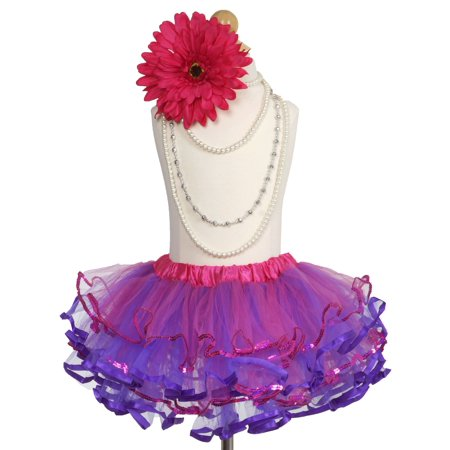 Efavormart My Little Explorer Fuchsia Purple Girls Ballet Tutu Skirt for Dance Performance Events Wedding Party Banquet Event Skirt