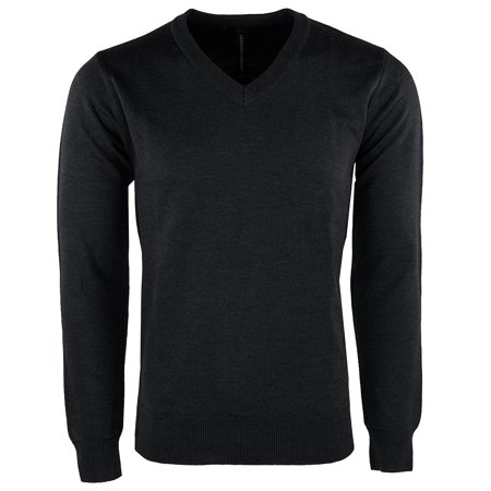 Mens Classic V-neck Sweater - Leonardo Gavino Men's V Neck Sweater