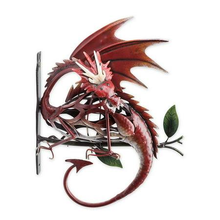 Metal Dragon on Branch Wall Art - Walmart.com