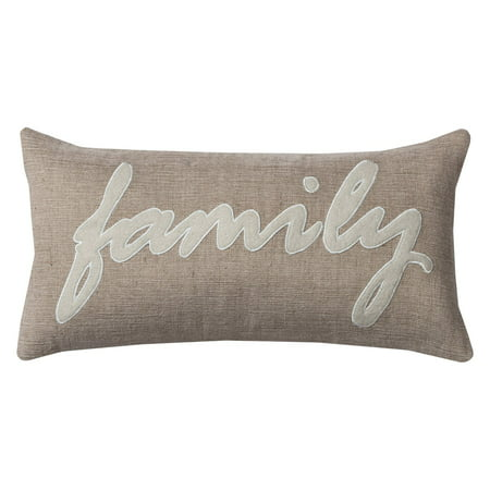 Rizzy Home One Of A Kind Family Decorative Throw Pillow, 11