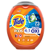 Tide Pods Plus Oxi, Laundry Detergent Pacs, 73 ct.
