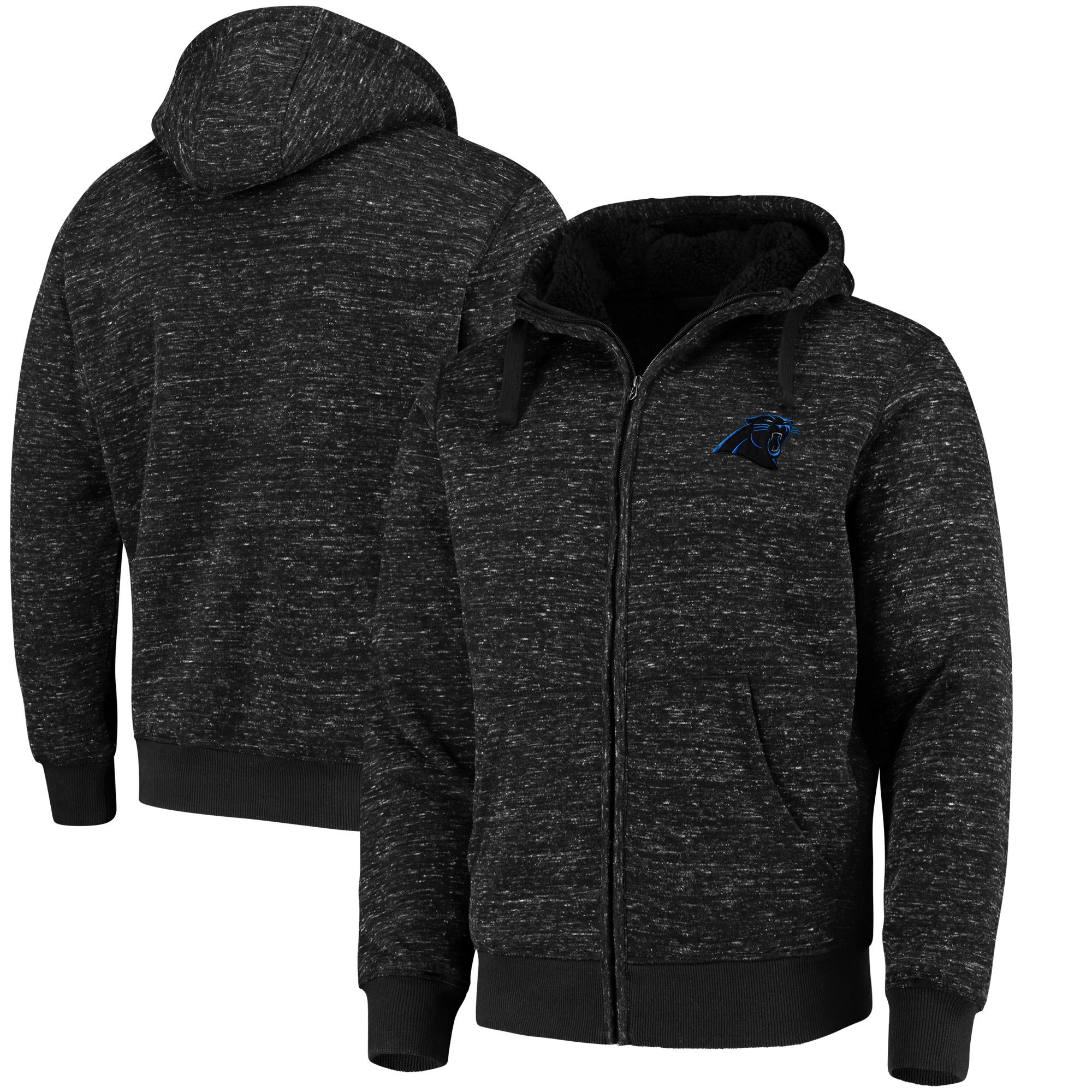 Carolina Panthers G-III Sports by Carl Banks Discovery Sherpa Full-Zip Jacket - Heathered Black