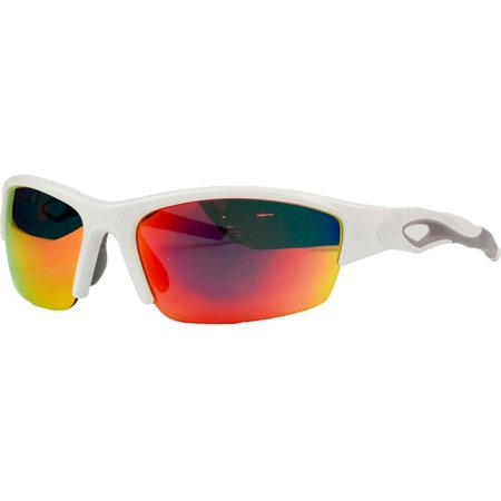 White Wayfarer Sunglasses (Rawlings 10237056.QTS Mens Baseball Protective Sunglasses)