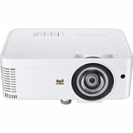 ViewSonic PS600W WXGA Short Throw DLP Projector for Business and Education, 3,500 lumens, native WXGA 1280x800 resolution