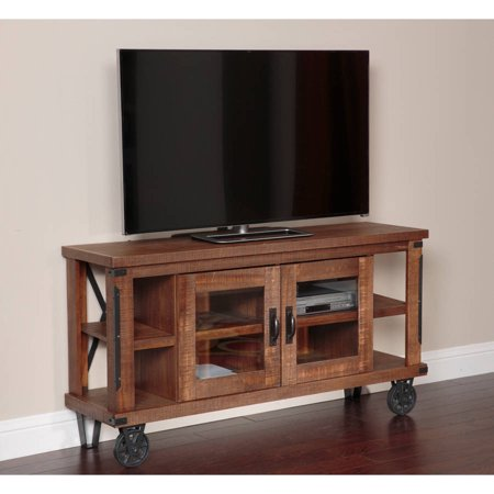 American Furniture Classics Industrial Collection 61 inch Console/Entertainment Center with Glass Doors