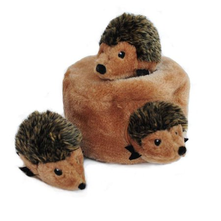 - Woodland Friends Burrow, Interactive Squeaky Hide and Seek Plush Dog Toy - Hedgehog Den, Interactive puzzle toy challenges your dog By ZippyPaws