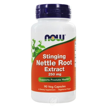 Now Foods Nettle Root Extract 250mg 90 Vcaps, Pack of 2