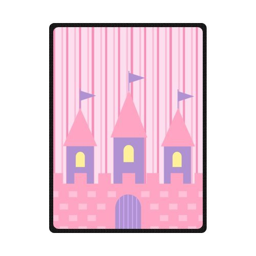 CADecor Cute Castle Pink Fleece Blanket Throws 58x80 inches