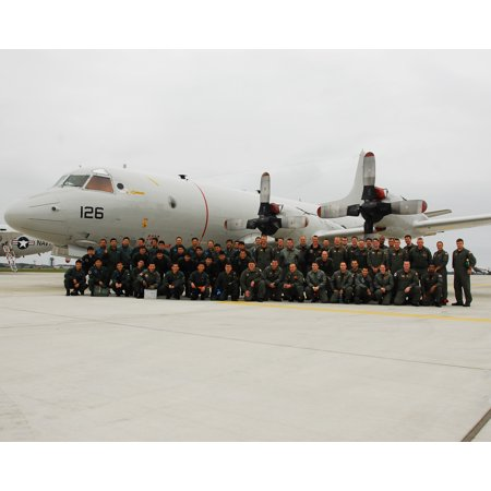 - Framed Art For Your Wall Japanese and U.S. sailors pose for a group photo prior to take off as part of a joint ride-along exe 10x13 Frame