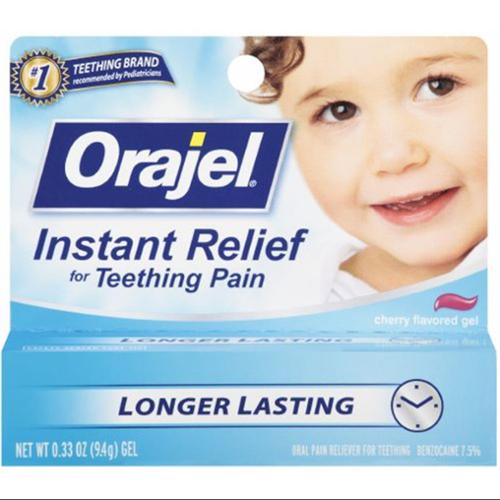 Baby Orajel Cherry Flavored Gel 0.33 oz (Pack of 6)