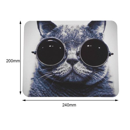 Cat Pattern Anti-Slip Laptop PC Mice Pad Mat Mousepad For Optical Laser Mouse - image 3 of 8