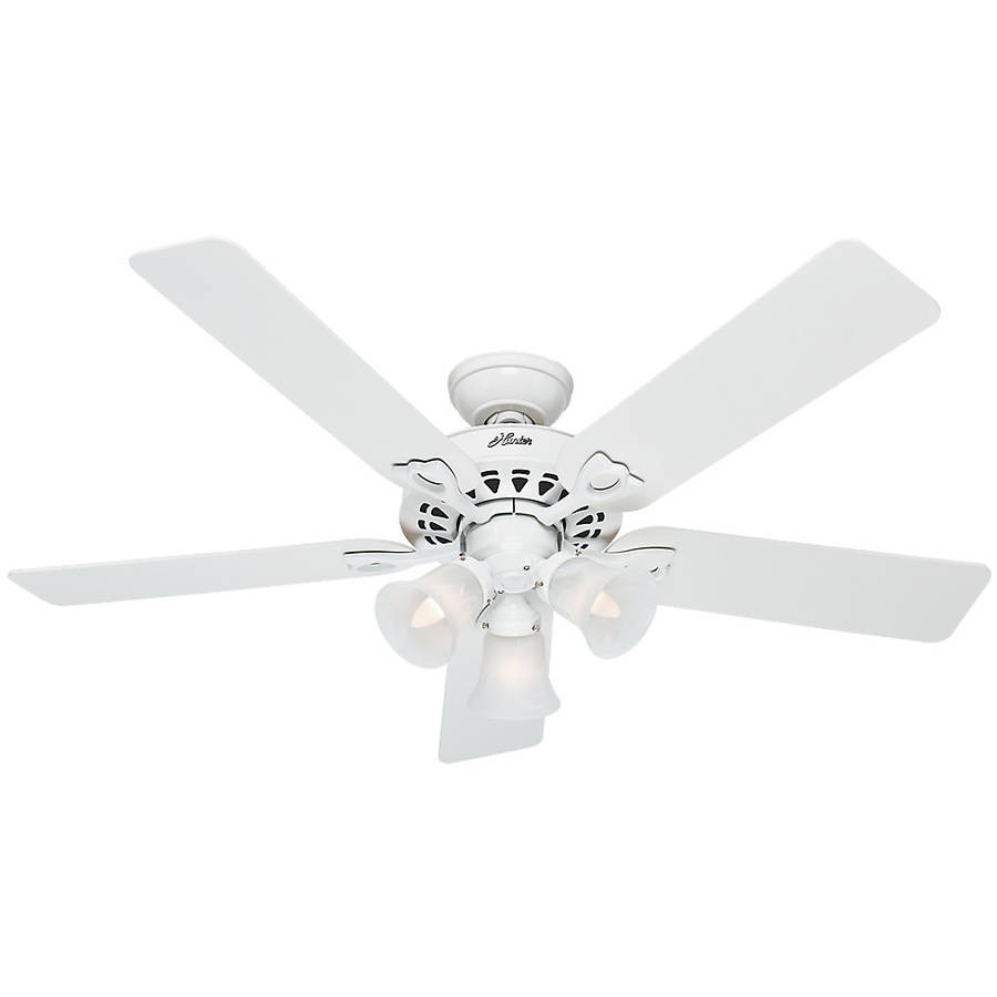 "hunter fan company 53114 the sontera 52"" ceiling fan with 5 white"