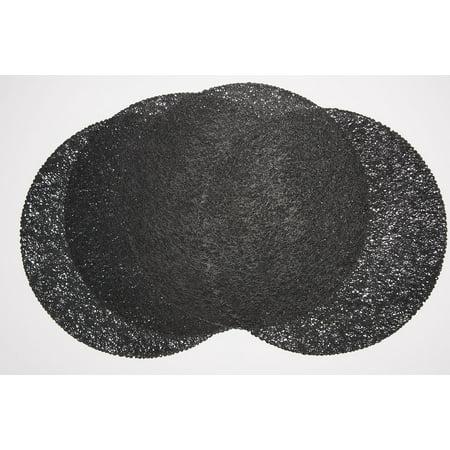 Mesh Indoor/Outdoor Black 100% Eco Friendly Vinyl Placemat (Set of 4)