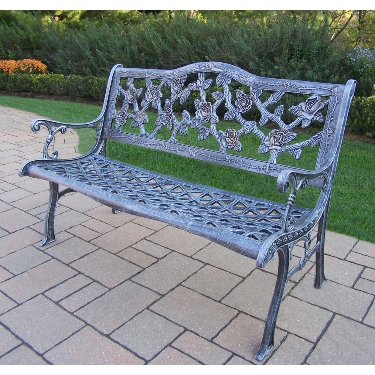 Oakland Living Corporation Camellia Cast Aluminum Bench by Overstock