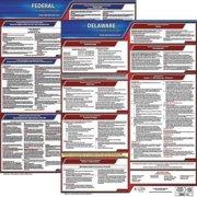 JJ KELLER 100-DE-5 LaborLaw Poster,Fed/STA,DE,ENG,20inH,5yr